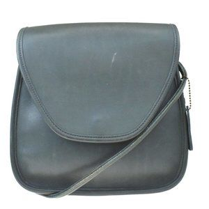 Auth Coach F17726 Leather Shoulder Bag Green